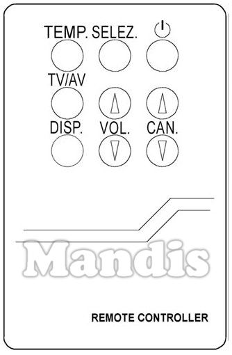 Mando original VEXA MG 2590