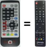 Replacement remote control LINQ SCARTDVB-TREC3