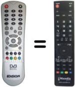 Replacement remote control Edision 1100FTA