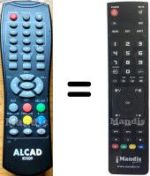 Replacement remote control ALCAD RT-009