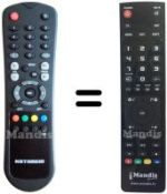 Replacement remote control DIGI HSS1160NA