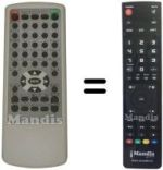 Replacement remote control MARVEL LOUIS DVD-JH354