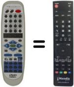 Replacement remote control MARVEL LOUIS DVD-MLA64