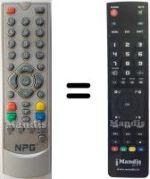 Replacement remote control Fortec Star DTR-101