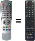Replacement remote control MPMAN DVB-T2007
