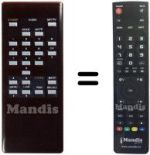 Replacement remote control DYNASAT DSR1000
