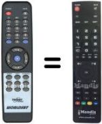 Replacement remote control TWINSAT STAR2000