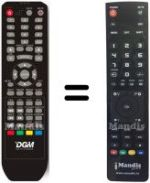 Replacement remote control DGM ETV-1969W