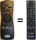 Replacement remote control LaCie LACINEMA CLASSIC HD
