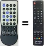 Replacement remote control Argosy SUP7640
