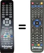 Replacement remote control CRISTOR Atlas HD-100
