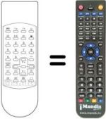 Replacement remote control ECO LINE EC 55-303