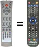 Replacement remote control OLIDATA LB 3200