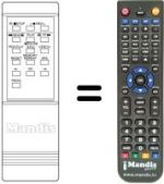 Replacement remote control MEMOREX VR-2150
