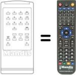 Replacement remote control DENKO CTV 3693