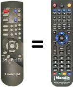 Replacement remote control Fortec Star 5400