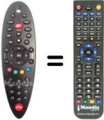 Replacement remote control Telecom ALICE HOME TV (ELSAG)