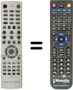 Replacement remote control SAT FX 7220