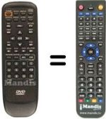 Replacement remote control AFREEY LD 2060