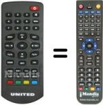 Replacement remote control TLG TL-DVBT1