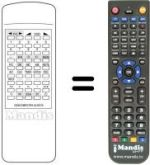 Replacement remote control UNIC TVC 4070