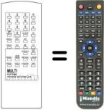 Replacement remote control SENDAY CTV 8228