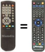 Replacement remote control Home Electronics CT 1405