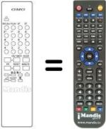 Replacement remote control Gm TVC 99 CH / 49 PR