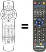 Replacement remote control DVICO TVIX HD M-5000 A