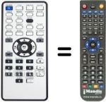 Replacement remote control VERBATIM MEDIASTATION PRO 750GB