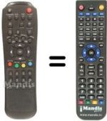 Replacement remote control MAGIKE MGK-4000 CI