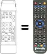 Replacement remote control DYNASAT DSR 3000