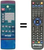 Replacement remote control PYXIS INFRARED REMOTE CONTROL