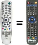 Replacement remote control MEDIA SHOPPING REMCON1390