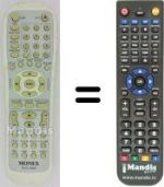 Replacement remote control Monex DVD-5008