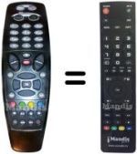 Replacement remote control INETBOX 500 HD