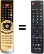 Replacement remote control Mirage 5000 HD