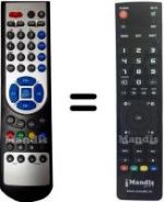 Replacement remote control ORCHID X 1-HD