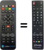 Replacement remote control TIM TIM VISION