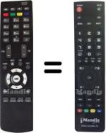 Replacement remote control MEDIA SYSTEM M5200 HD