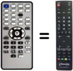 Replacement remote control VERBATIM 47535