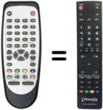 Replacement remote control CHAMELEON L 7 MTK 2 A