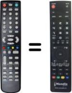 Replacement remote control MYTV TE 32