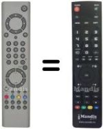 Replacement remote control EUROVISION 4205 BIT