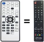 Replacement remote control VERBATIM MEDIASTATION PRO 750 GB