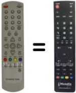 Replacement remote control Fortec Star 5400 Z