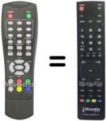 Replacement remote control INTREEO DVB-MGB