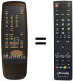 Replacement remote control SAT+ CONTACT FTA