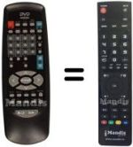 Replacement remote control HITEKER BI 600 E