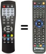 Replacement remote control TLG TL-DVBT2